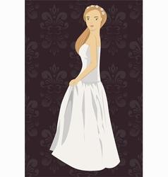 bride 2 vector image