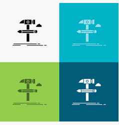 build design develop tool tools icon over various vector image