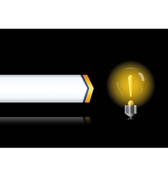 Bulb lamp with attention sign inside vector image