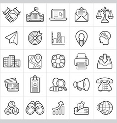 business trendy style icons on white background vector image