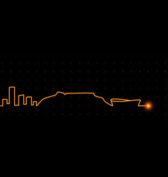 Cape town light streak skyline vector