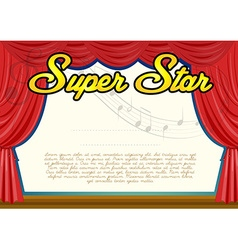 Certification template for super star vector