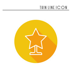 christmas star thin line icon new year vector image