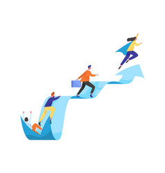 Concept career ladder or leadership people vector