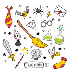 Different magic elements for witches vector