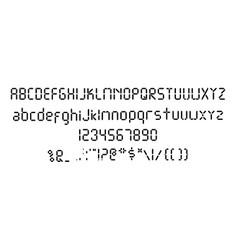 Digital font template black digital vector