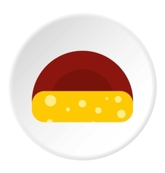 Dutch cheese icon flat style vector image