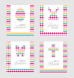 Easter gift tags and cards vector