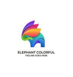 Elephant colorful design concept template vector