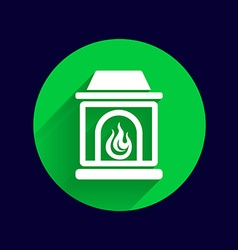fireplace icon button logo symbol concept vector image