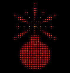 Fireworks detonator halftone icon vector