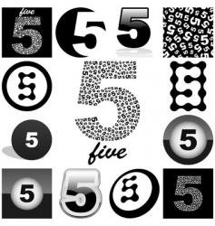 five vector image