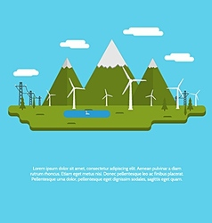 Flat design for ecology vector image