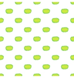 Green smoke cloud pattern cartoon style vector