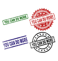 grunge textured you can do more seal stamps vector image