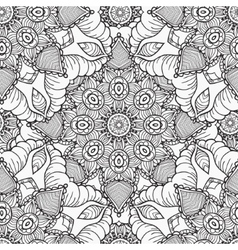 Hand drawn artistic ethnic ornamental patterned vector image