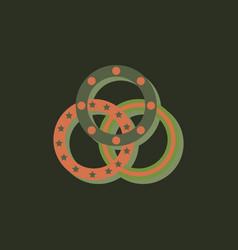Juggling rings in sticker style vector