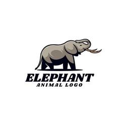 Logo elephant simple mascot style vector