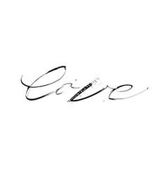 love grunge ruling pen black calligraphy design vector image