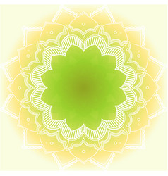 Mandala patterns on yellow background vector