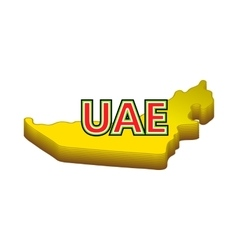 Map of UAE icon cartoon style vector