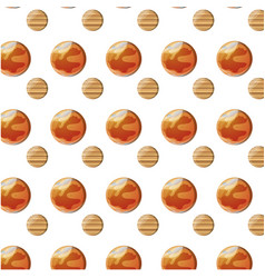 Mars planet background vector