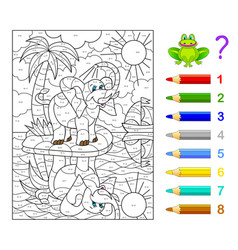 Math education for children coloring book vector