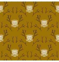 Modern damask pattern in hipster style vector image