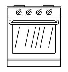 new oven icon outline style vector image