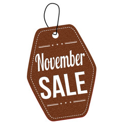 November sale label or price tag vector