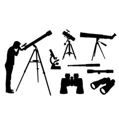 optical equipment vector image