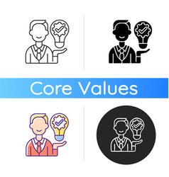 Ownership focus icon vector