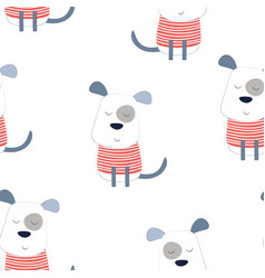 pattern dog in scandinavian style vector image