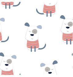 pattern dog in scandinavian vector image