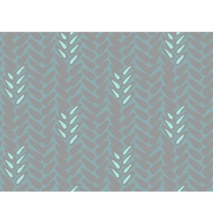 Pattern with stylized wheat and rye plant motifs vector image