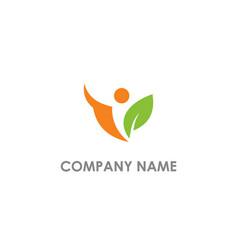 people vegetarian logo vector image