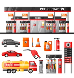 Petrol Station Design Concept vector