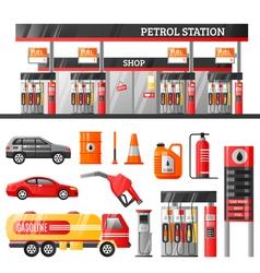 Petrol Station Design Concept vector image