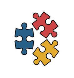 puzzle pieces icon image vector image
