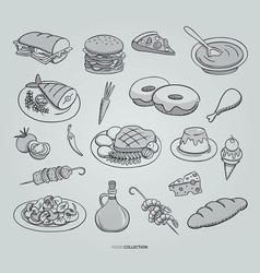 restaurant food menu design vector image