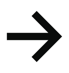 Right arrow black simple icon vector image