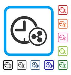 ripple credit clock framed icon vector image
