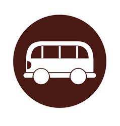 round icon car cartoon vector image