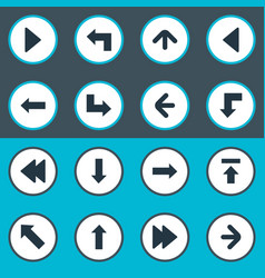 Set of 16 simple cursor icons can be found such vector