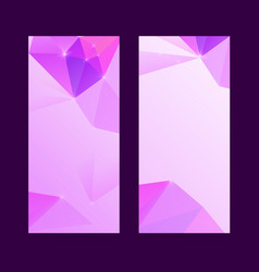 Set of bright modern polygonal background vector