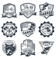 Set of nine auto repair vector