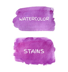 set watercolor stains vector image