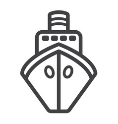 ship line icon transport and boat travel sign vector image