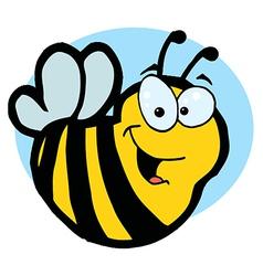 Smiling Yellow Bee vector