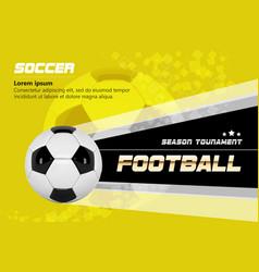 Soccer poster design football ball design vector